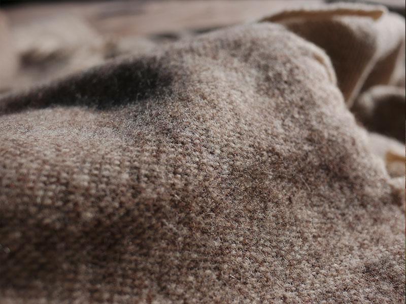 Plaid laine naturelle