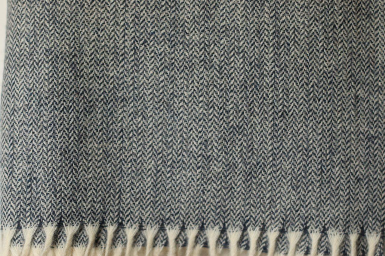 étole laine chevrons bleu marine Estrel Home