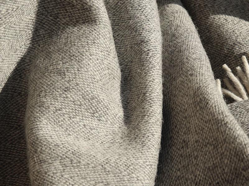 plaid laine gris