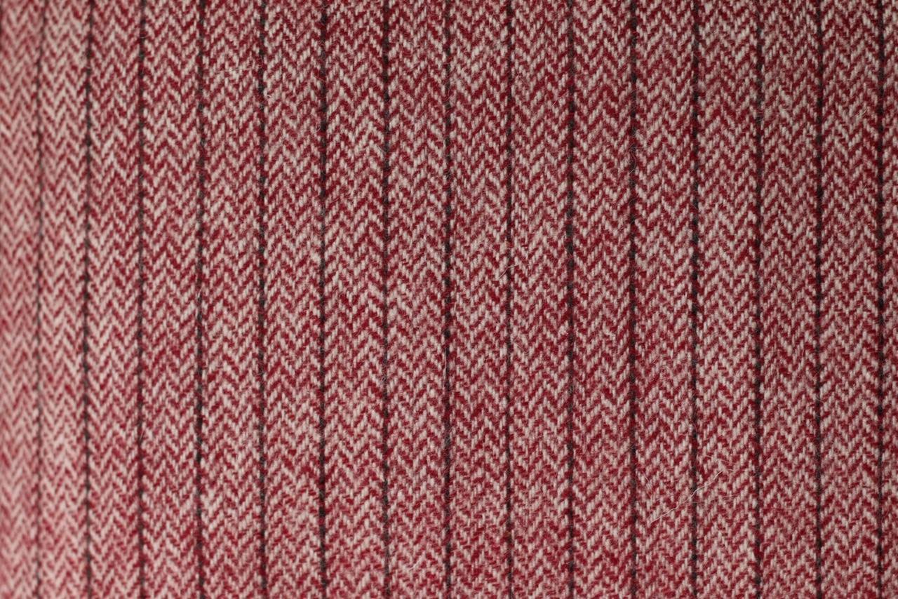 Echarpe laine bordeaux rayée