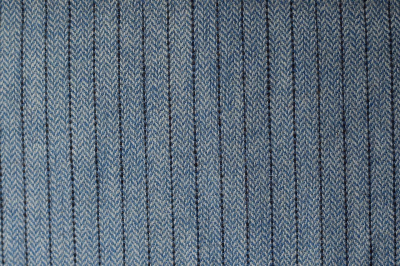Echarpe rayures laine bleue ciel