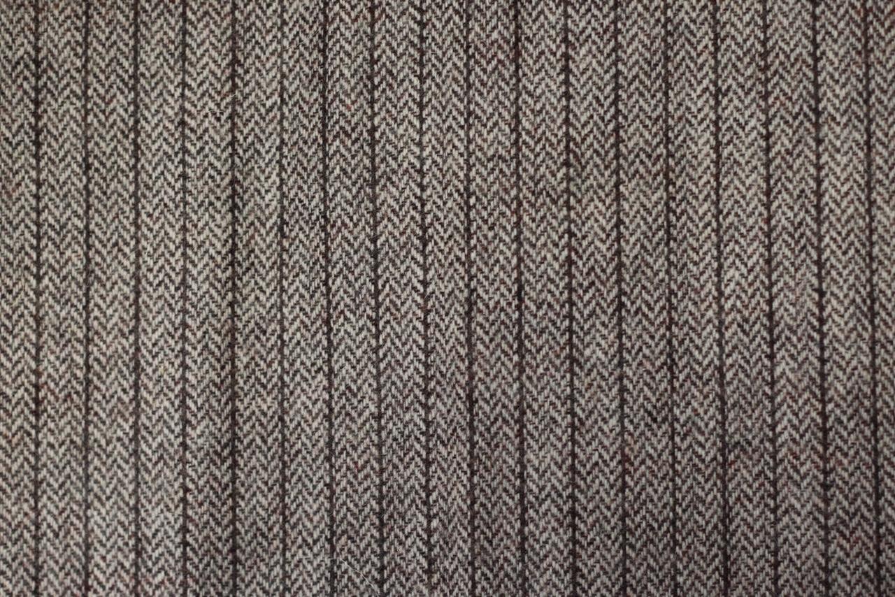 Echarpe laine marron rayures