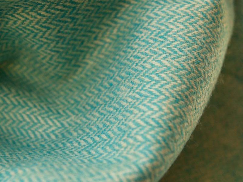 echarpe laine turquoise