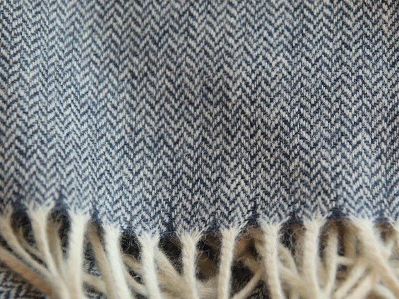 écharpe laine bleu marine